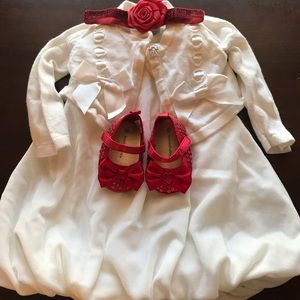EUC 3-6 month Christmas dress